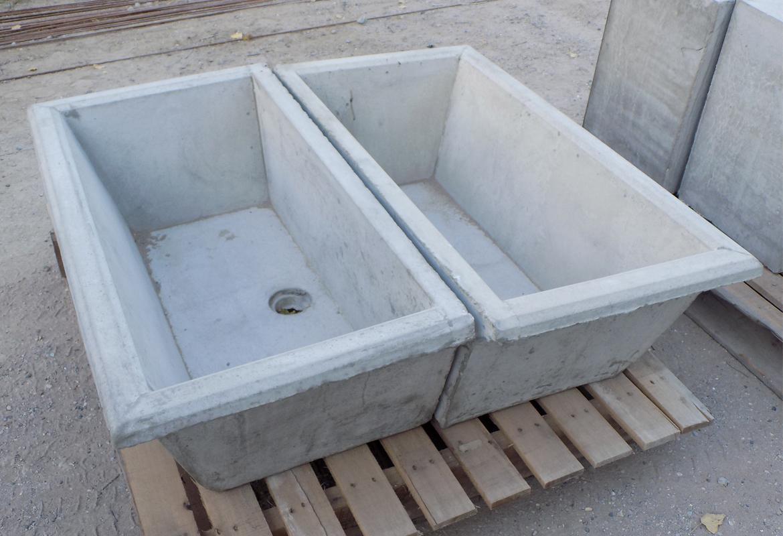 piletas de lavadero de cemento